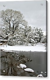 East Verde Winter Crossing Acrylic Print