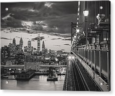 Eastbound Encounter In Black And White Acrylic Print