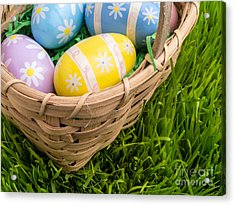 Easter Basket Acrylic Print by Edward Fielding