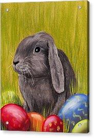 Easter Bunny Acrylic Print by Anastasiya Malakhova
