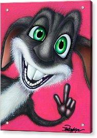 Easter Bunny Is Afk Acrylic Print