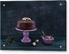 Easter Eggs Acrylic Print by Flavia Morlachetti