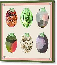 Easter Eggs Acrylic Print by Gail Cramer