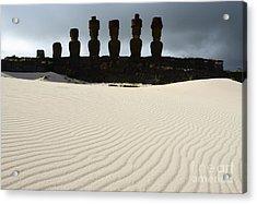 Easter Island 9 Acrylic Print by Bob Christopher