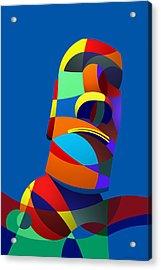 Easter Island Blue Acrylic Print
