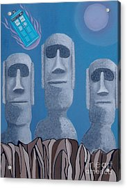 Easter Island Revisited Acrylic Print by Anthony Morris