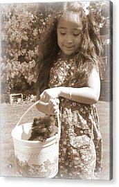 Easter Kitten Acrylic Print