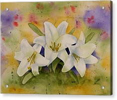 Easter Lilies Acrylic Print