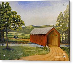 Eastern Covered Bridge Acrylic Print by Susan Williams