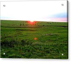 Eastern Kansas Sunset Acrylic Print