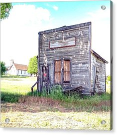 Eastern Oregon Road Trip An Old Shop Acrylic Print by Blenda Studio