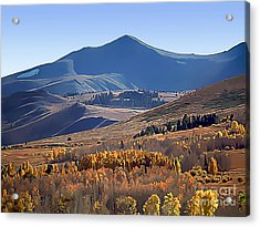 Eastern Sierra Nevada Autumn Acrylic Print by Wernher Krutein