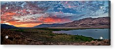 Eastern Sierra Sunset Acrylic Print by Cat Connor