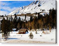 Eastern Slope Cabin Acrylic Print by Donald Fink