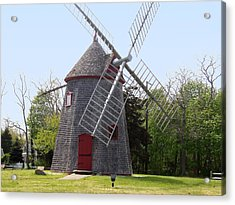 Eastham Windmill Acrylic Print by Catherine Gagne