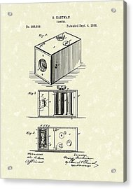 Eastman Camera 1889 Patent Art Acrylic Print
