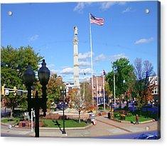 Easton Pa - Civil War Monument Acrylic Print by Jacqueline M Lewis