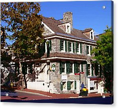 Easton Pa - Bachmann House Abstract Acrylic Print by Jacqueline M Lewis