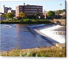 Easton Pa - Two Rivers Landing Acrylic Print by Jacqueline M Lewis