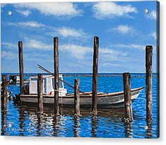 Acrylic Print featuring the painting Eastpoint Gray by Rick McKinney