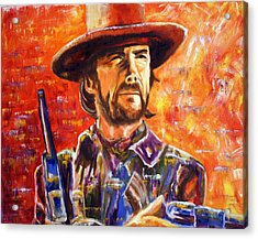 Acrylic Print featuring the painting Eastwood Josey Wales by Jennifer Godshalk