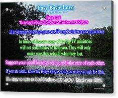 Easy Basic Love Acrylic Print