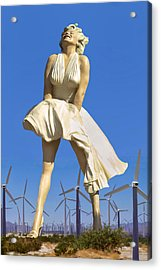 Cool Breeze Marilyn Palm Springs Acrylic Print by William Dey
