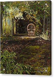Easy Chair Acrylic Print by Carla Dabney