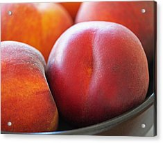 Eat A Peach Acrylic Print by Rona Black