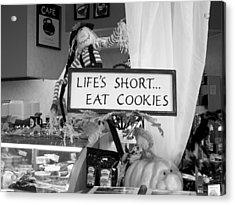 Eat Cookies Acrylic Print