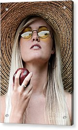 Eat Healthy And Look Beautiful Acrylic Print by Jt PhotoDesign