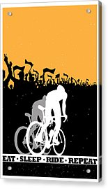 Eat Sleep Ride Repeat Acrylic Print