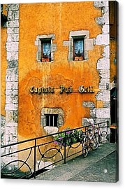 Eatery 2 Acrylic Print by Maria Huntley
