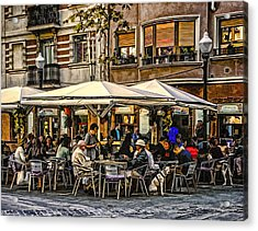 Acrylic Print featuring the photograph Eating Out In Barcelona by Brian Tarr