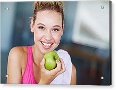 Eating The Right Way For Great Health Acrylic Print by GlobalStock