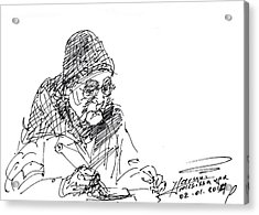 Eating  Acrylic Print by Ylli Haruni