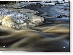 Eau Claire Dells Park River Ice Acrylic Print