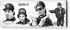 Eazy-e Art Drawing Sketch Poster Acrylic Print by Kim Wang