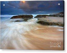 Ebb Tide Sunrise Acrylic Print by Mike  Dawson