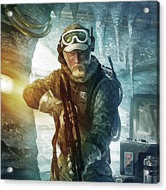 Echo Base Trooper Acrylic Print by Ryan Barger