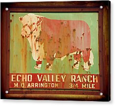 Echo Valley Ranch Stylized Acrylic Print