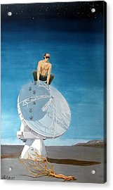 Acrylic Print featuring the painting Echoes by Lazaro Hurtado