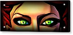 Acrylic Print featuring the painting Echo's Eyes by Persephone Artworks