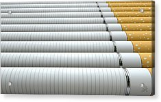 Ecigarette Evolution Acrylic Print by Allan Swart