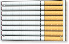 Ecigarette Revolution Acrylic Print by Allan Swart