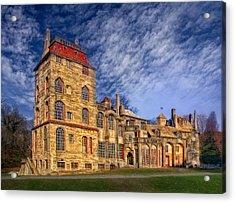 Eclectic Castle Acrylic Print by Susan Candelario