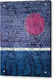 Eclipse Original Painting Acrylic Print by Sol Luckman