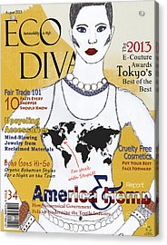 Eco Diva Spoof Magazine Cover Acrylic Print