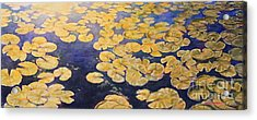Acrylic Print featuring the painting Eco Park Lake by Andrew Danielsen