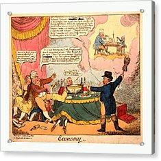 Economy, Cruikshank, George, 1792-1878, Artist, London Acrylic Print by Litz Collection